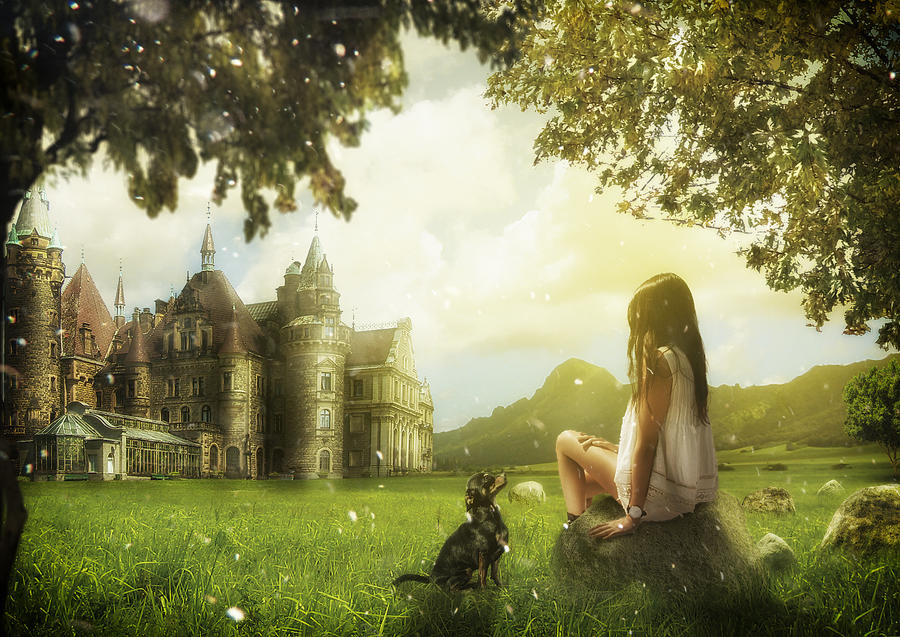 Castle and Girl