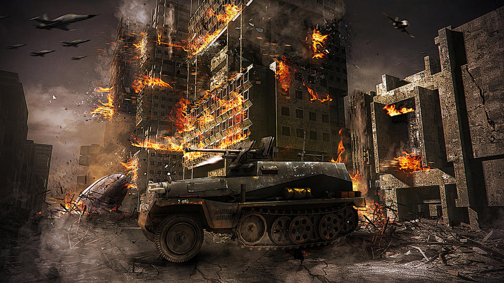 Destroy the City by erkanozan on DeviantArt