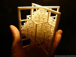 Beamed Octahedron - 3D printed fractal