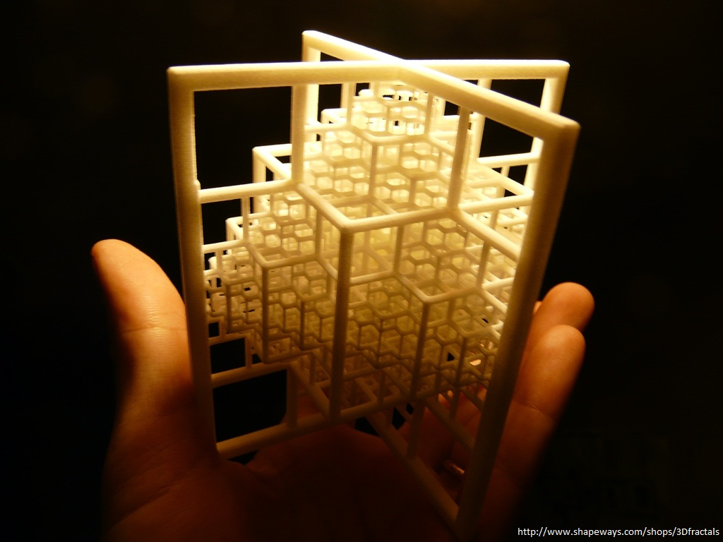 Beamed Octahedron - 3D printed fractal by bib993