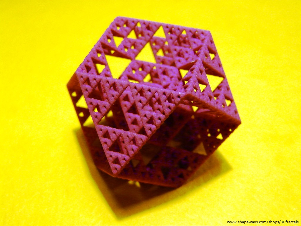 Sierpinski cuboctahedron - 3D printed fractal by bib993