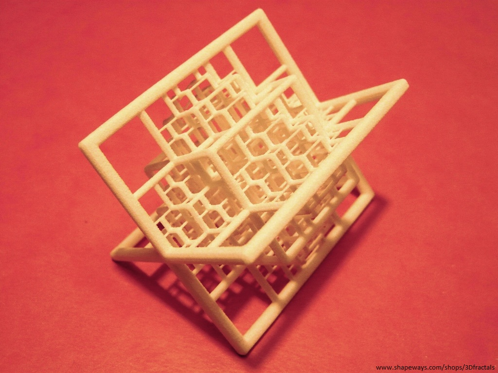Beamed Octahedron (small) - 3D printed fractal by bib993