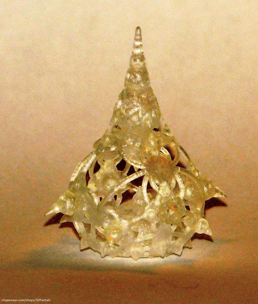 Ultra detailed miniature 3D fractal print by bib993