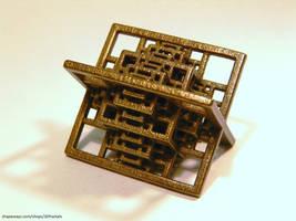Bronze fractal octahedral grid by bib993
