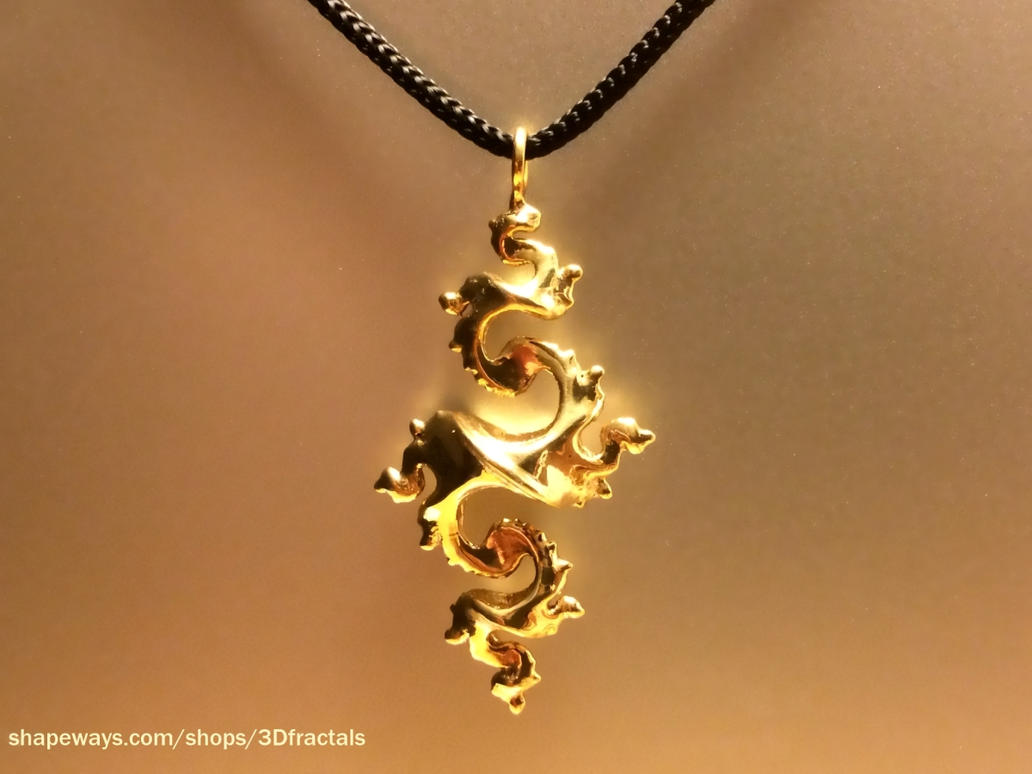 Dragon pendant 4cm - 3D printed jewel by bib993