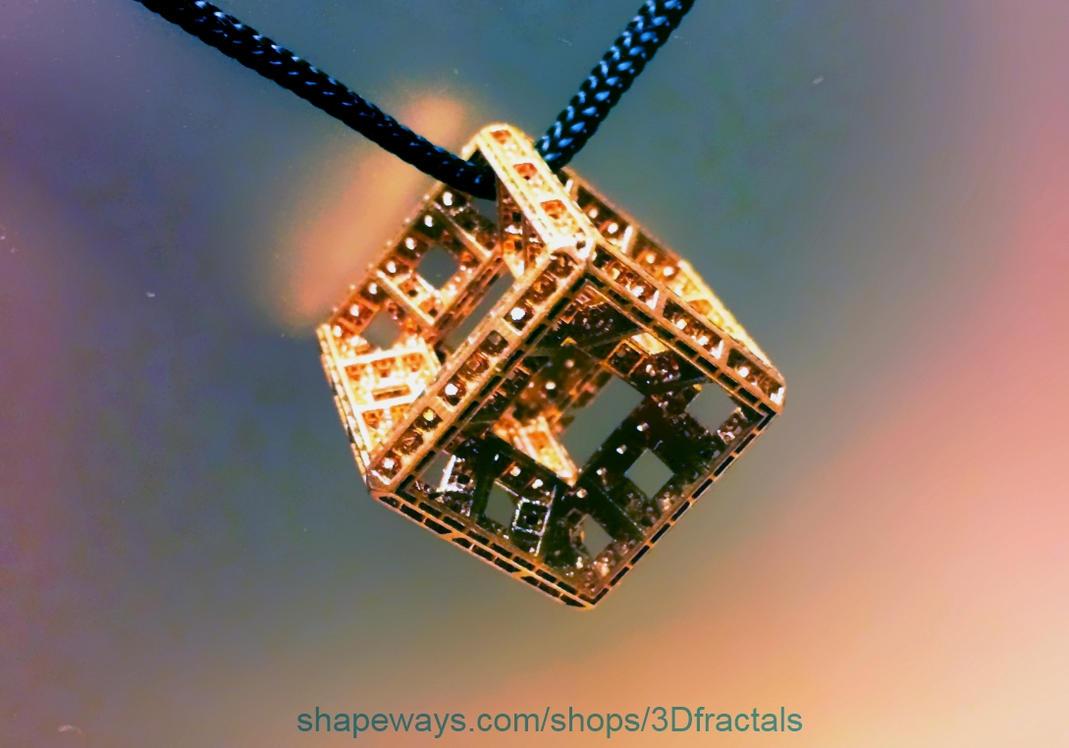 Menger Tesseract Pendant by bib993