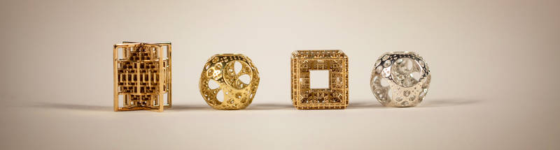 3D printed fractal jewels