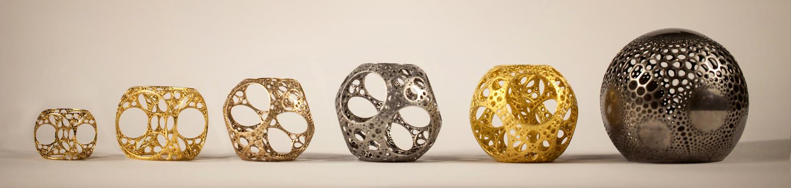 Metallic 3D fractals