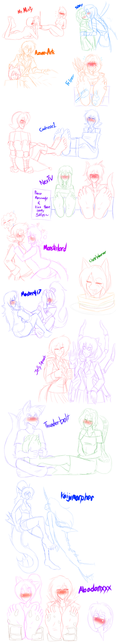 More streamin' sketches by LoverBoySora