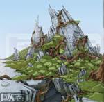 Ruined alien city