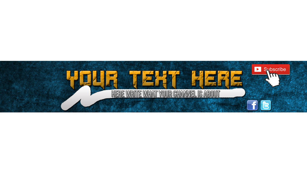 A Simple Banner Template For Your Youtube Channel! By Xenonmihai