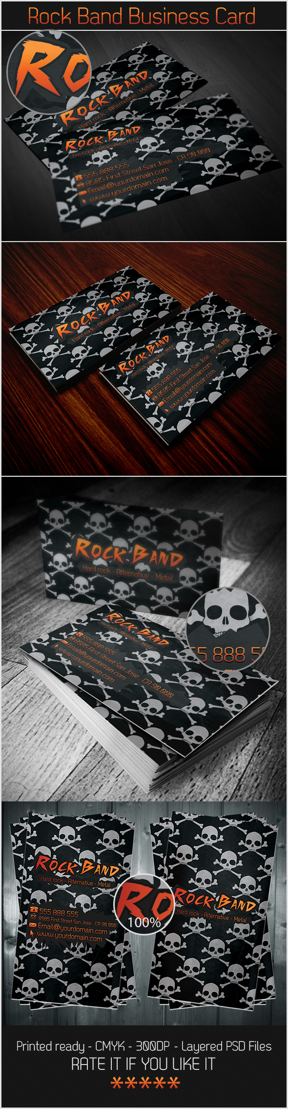 Rock Band Business Card by karimmove on DeviantArt