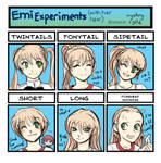 Emi Experiments (With Her Hair)