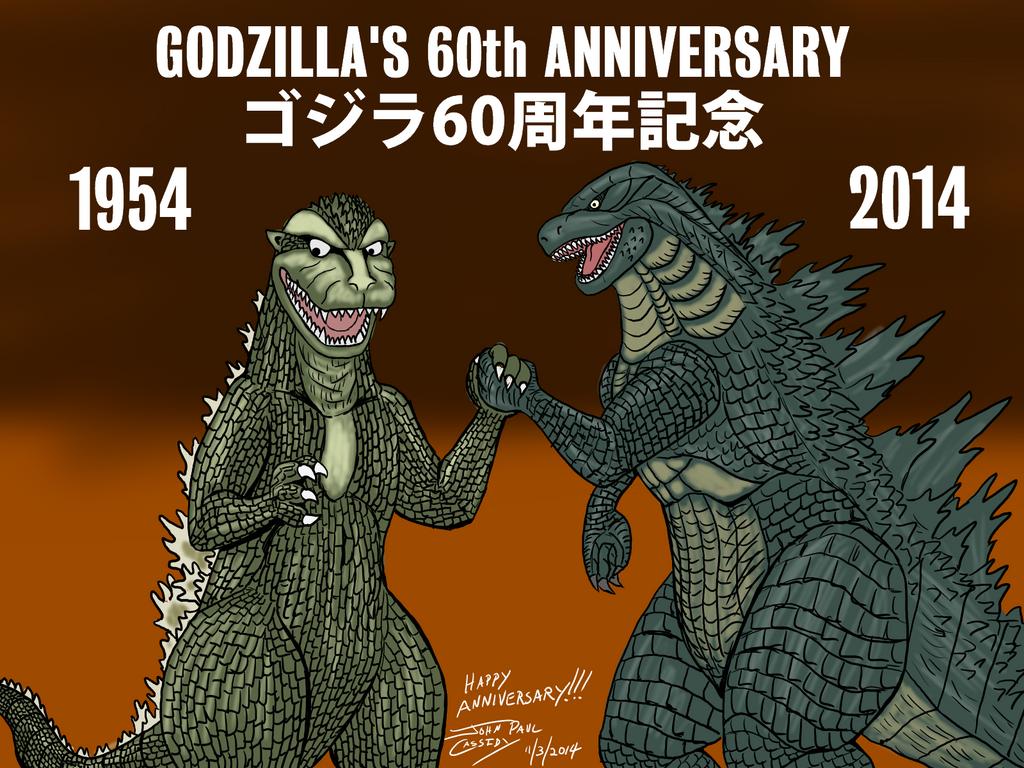 Godzilla - 60th Anniversary - 20141103 by ryuuseipro