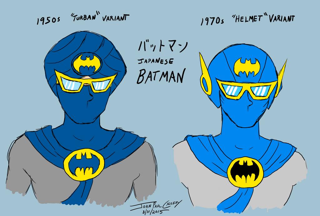 Japanese Batman Masks by ryuuseipro