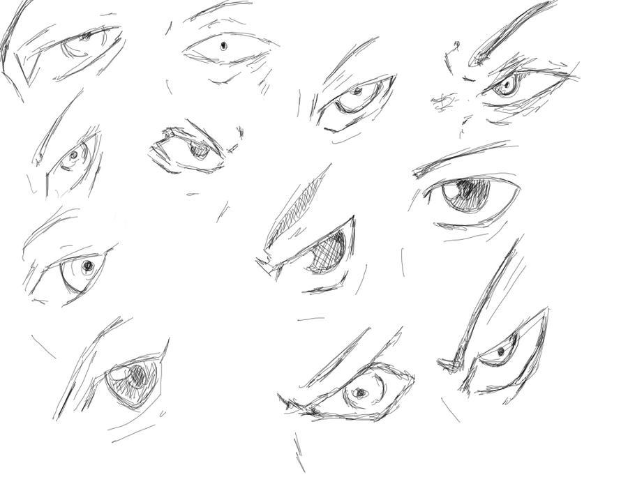 anime male eyes - 900×684