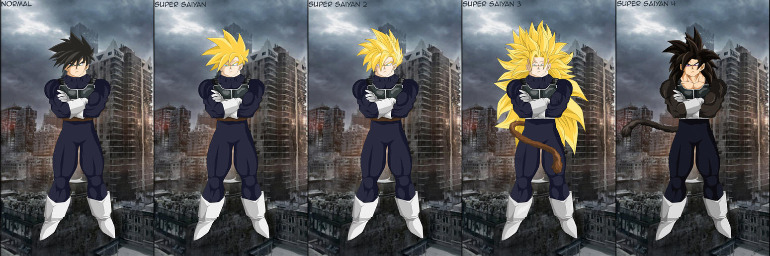 Kai's Saiyan Forms... by Kai1984