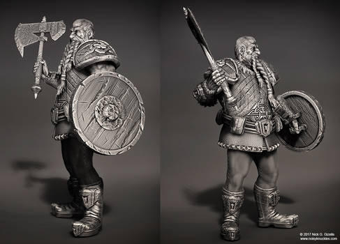 Dwarf warrior miniature