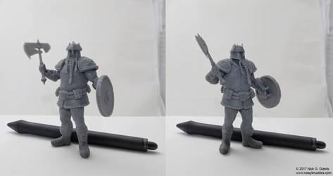 Dwarf warrior miniature