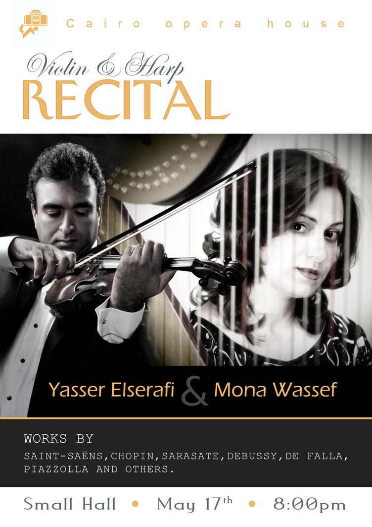 Violin And Harp Recital Poster By Hazem Sultan