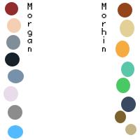 Morhin and Morgan color key by JinjoJess
