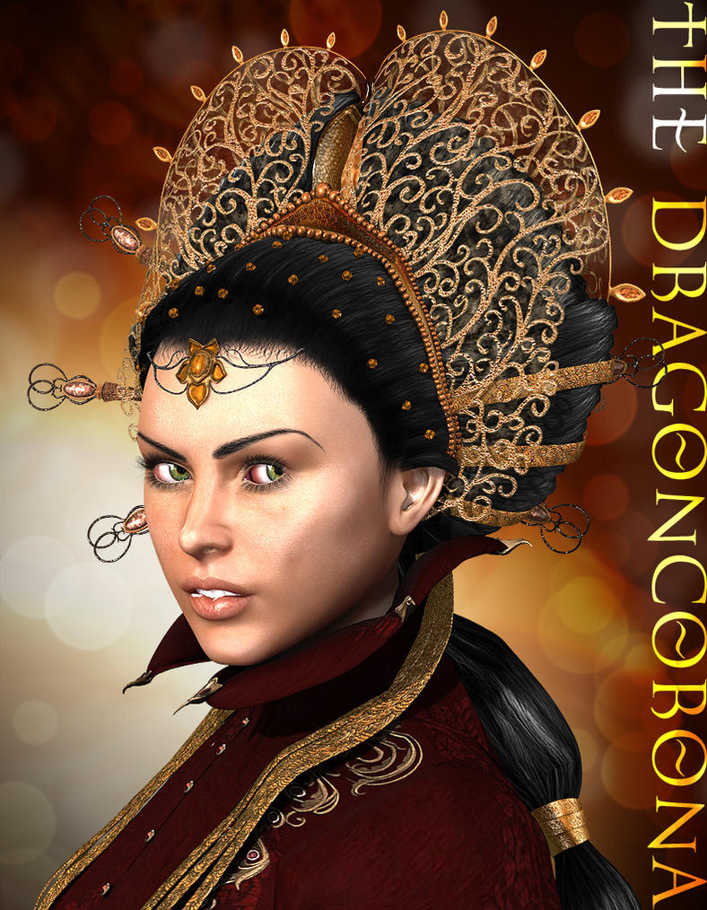 DragonCorona hair for Victoria 4 by Aarki
