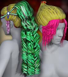 Teardrop Hair parts by Aarki
