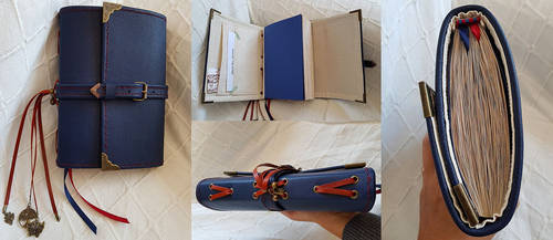 Handmade Blue Journal, collage