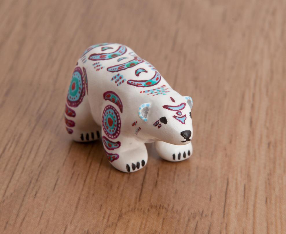 Polar Bear Totem Polymer Clay By Lifedancecreations On Deviantart