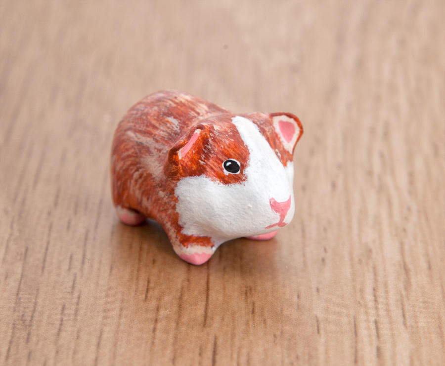 Little Guinea Pig Polymer Clay Figurine By Lifedancecreations On Deviantart