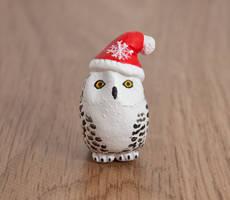 Santa snowy owl totem by lifedancecreations
