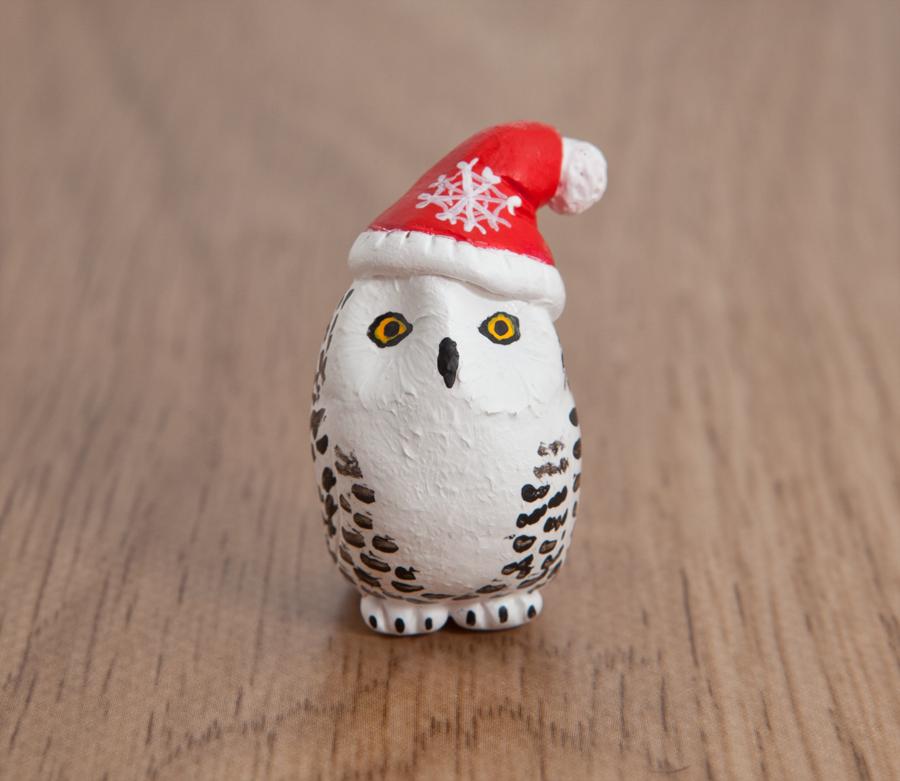 Santa Snowy Owl Totem By Lifedancecreations On Deviantart