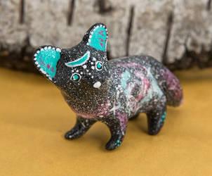 Galaxy fennec fox figurine by lifedancecreations