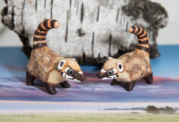 Two sweet coati's available in my etsy shop :) by lifedancecreations