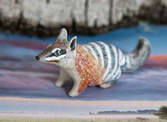 Numbat handmade polymer clay figurine by lifedancecreations