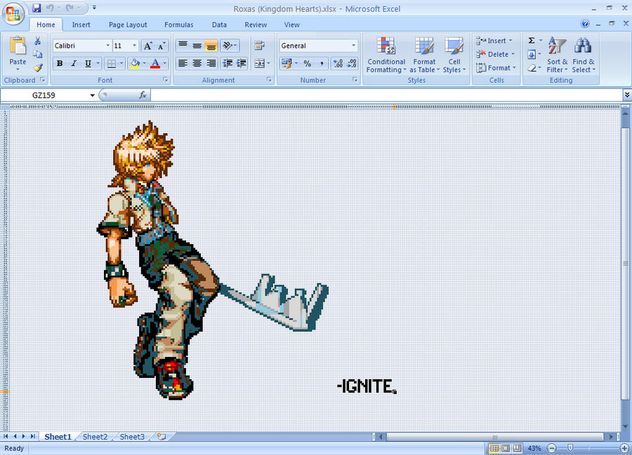 Roxas made made with MSExcel by ignite25