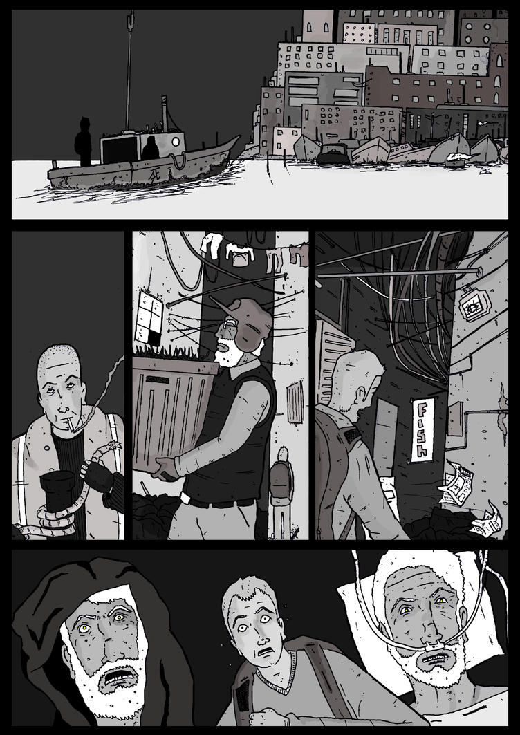 Cities and the Dead page one. by Tasteyfrog