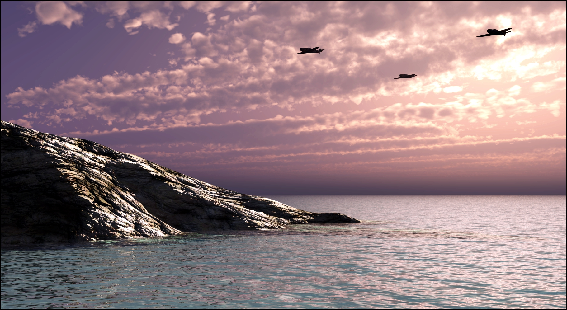 Crossing The Channel At Dawn by ClovisLuik
