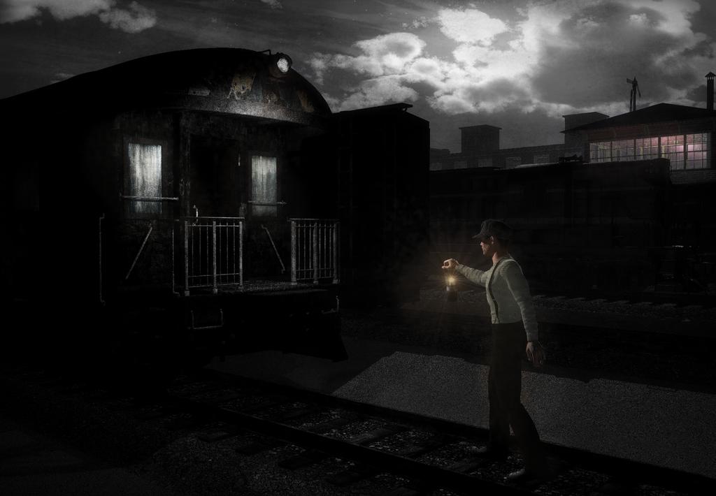 Trainyard by Moonlight by ClovisLuik
