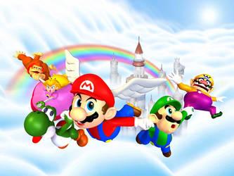 Mario Rainbow Castle by YuiHarunaShinozaki