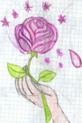 Just a single rose by YuiHarunaShinozaki