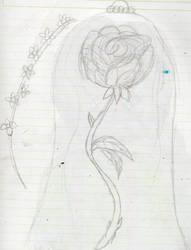Rose and forget-me- not by YuiHarunaShinozaki