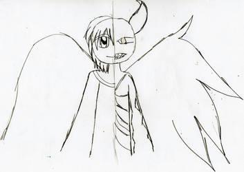 Sketch-Angel and Demon by YuiHarunaShinozaki
