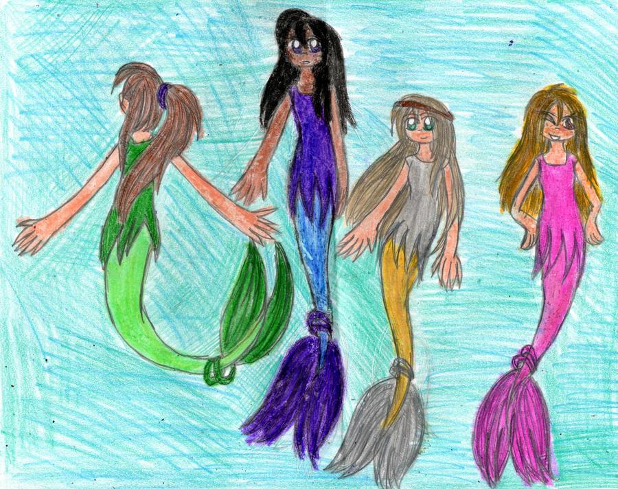 Four mermaids by YuiHarunaShinozaki