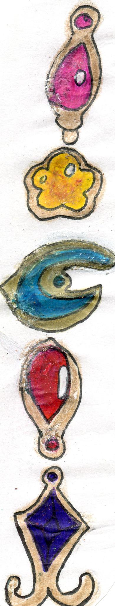 Puella Magi 5 Soul Gems emblems by YuiHarunaShinozaki