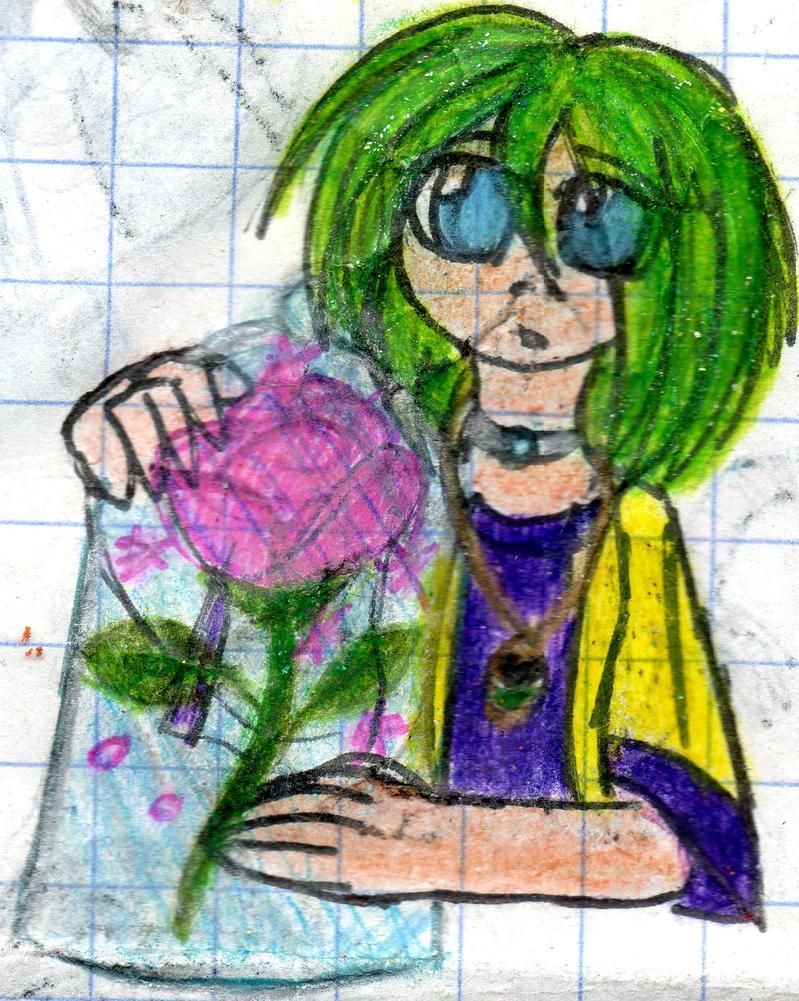 Opal with the enchanted rose doddle by YuiHarunaShinozaki