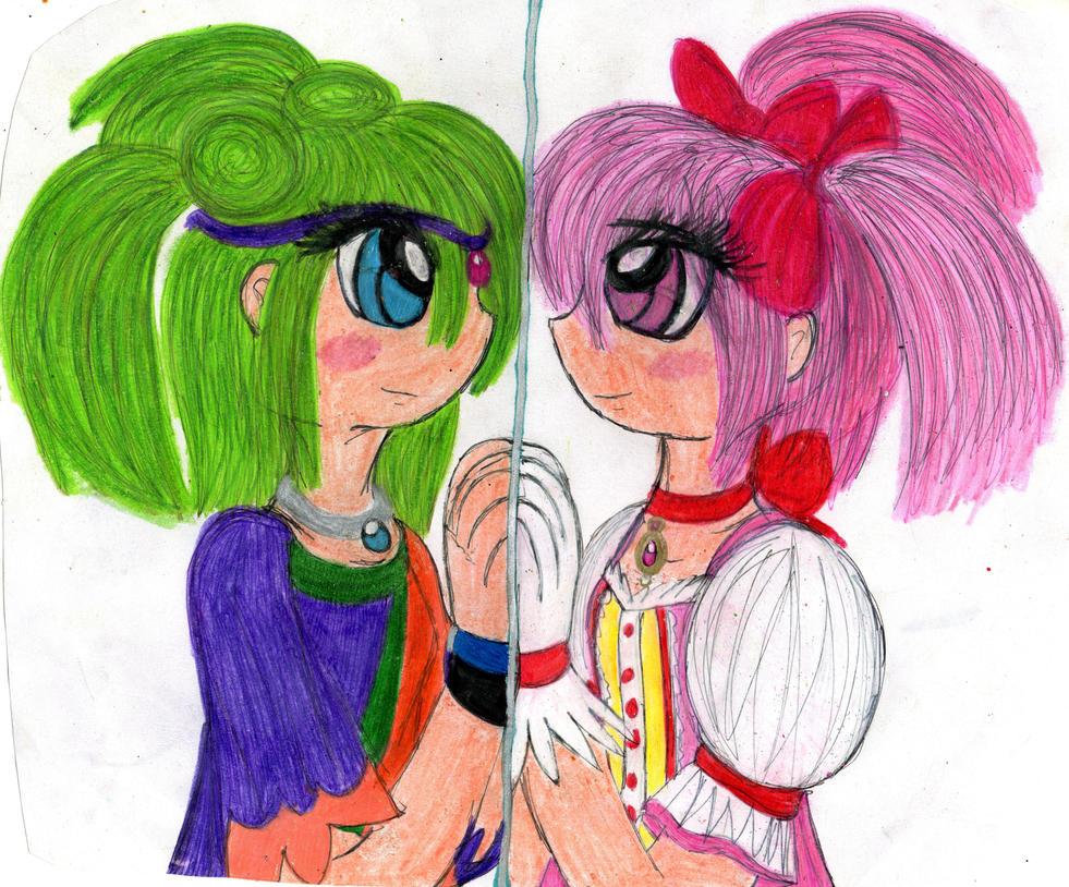 Opal and Madoka by YuiHarunaShinozaki