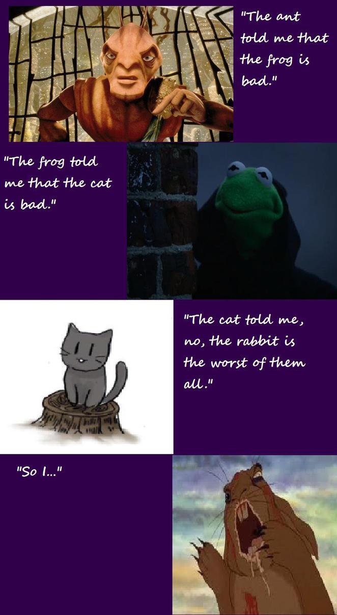 Ant,Frog, Cat And Rabbit-who's bad or worse? by YuiHarunaShinozaki