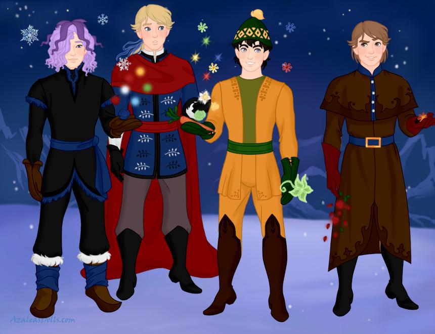 YHS' Snow and Magic-Garry, Allen, Vinnie and Light by YuiHarunaShinozaki