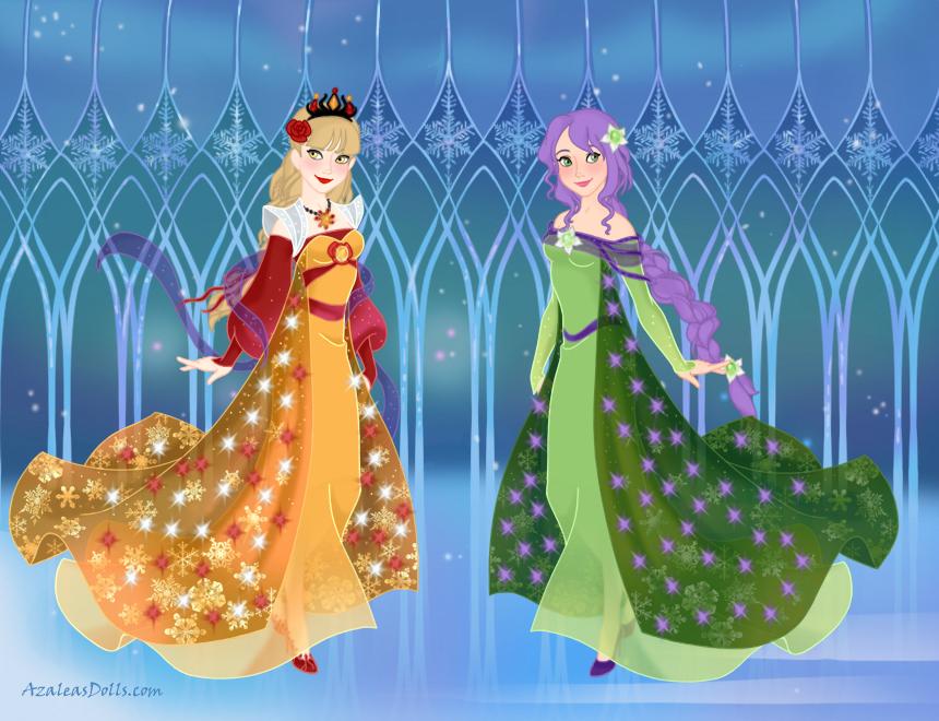 Ellen and Viola-Snow Queens by YuiHarunaShinozaki